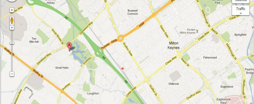 Little Orchard Milton Keynes map